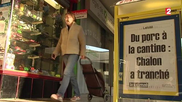 La fin des menus sans porc dans les cantines de Chalon-sur-Saône