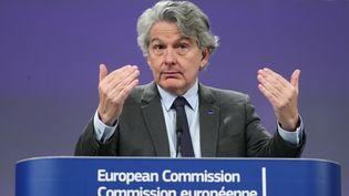 Thierry Breton, le commissaireeuropéen au Marché intérieur, à Bruxelles le 29 janvier 2020. (ARIS OIKONOMOU / AFP)