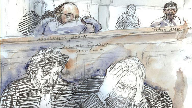 Abdelkader Merah, le 30 octobre 2017, lors de son procès. (BENOIT PEYRUCQ / AFP)