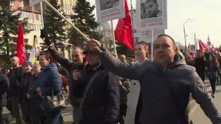 La Russie n'est pas vraiment célèbre pour ses manifestations écologistes. Et pourtant, la région d'Arkhangel'sk, située à 1 200 kilomètres de Moscou, se mobilise pour ne pas devenir la poubelle de la capitale. (CAPTURE ECRAN FRANCE 2)