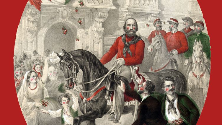 Giuseppe Garibaldi (1807-1882) dans les rues de Naples en 1860. En fuite, le héros de l'unité italienne, habita à Tunis en 1835. La capitale tunisienne a longtemps abrité une importante communauté italienne. (ANN RONAN PICTURE LIBRARY/ AFP)