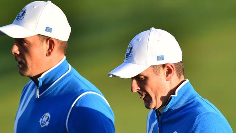 Les deux golfeurs européens, le Suédois Henrik Stenson (à gauche) et Justin Rose (à droite)