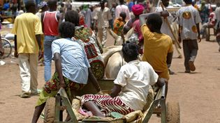 Des femmes en cariole sur le marché de Gorom Gorom, au Burkina Faso. (PHILIPPE ROY / PHILIPPE ROY)