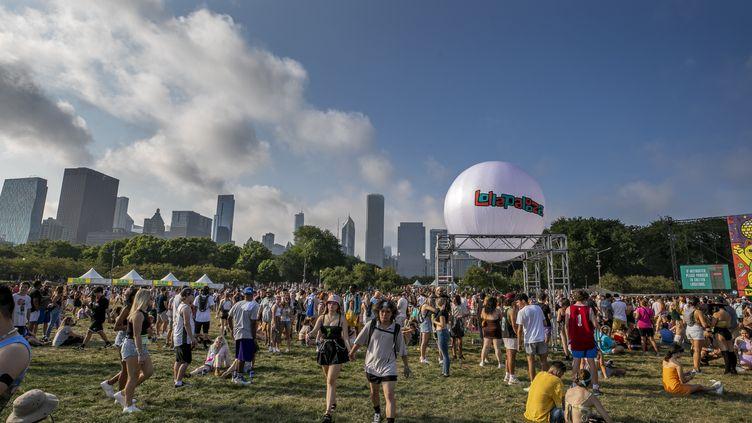 Le 29 juillet 2021, premier jour du festival de musique Lollapalooza qui se déroule à Chicago, aux Etats-Unis (SCOTT LEGATO / GETTY IMAGES NORTH AMERICA)