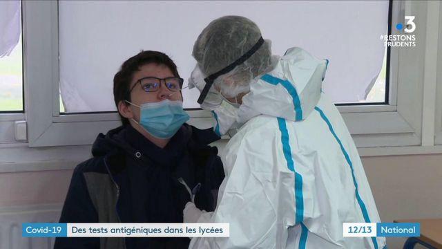 Coronavirus : des tests antigéniques déployés dans les lycées