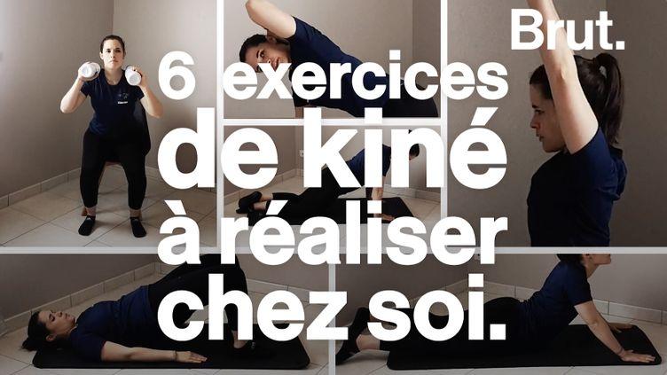 VIDEO. Six exercices simples de kiné à faire chez soi (BRUT)