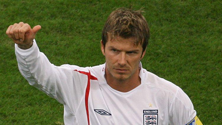 David Beckham sous le maillot de l'Angleterre