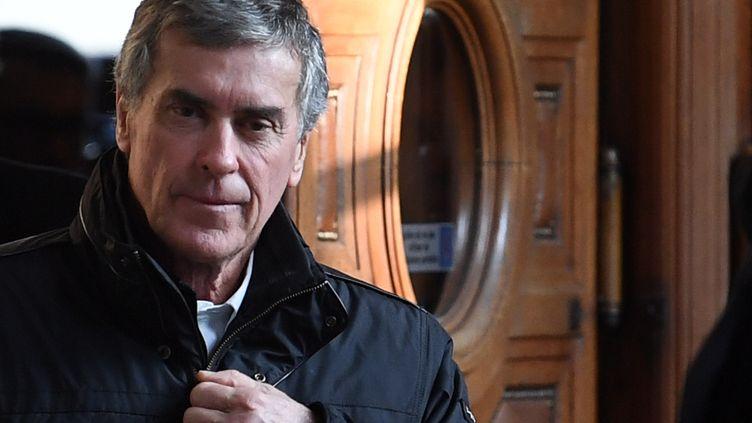 Jérome Cahuzac lors de son procès en appel le 21 février 2018. (ERIC FEFERBERG / AFP)