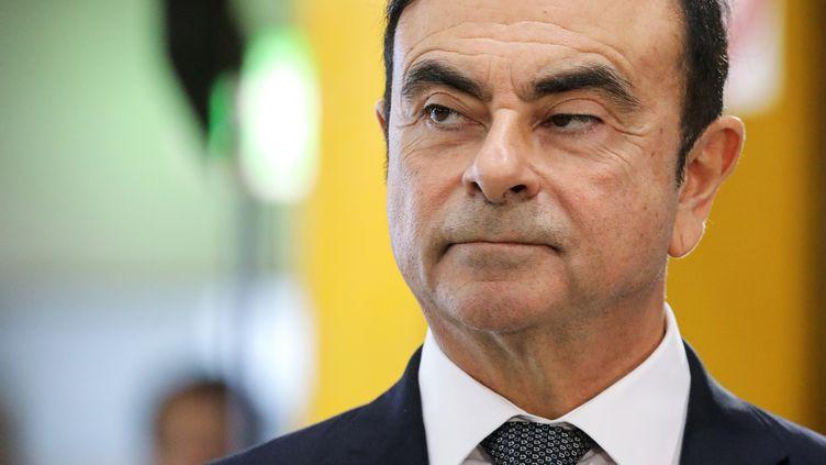 L'ex-PDG de Renault, Carlos Ghosn, le 8 novembre 2018. (LUDOVIC MARIN / AFP)