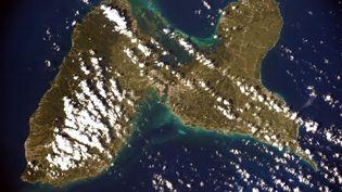 La Guadeloupe vue du ciel par Thomas Pesquet. (MAXPPP)