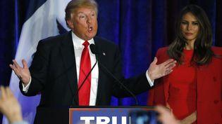 Le républicain Donal Trum, le 1er février 2016, à Des Moines (Iowa). (CARLOS BARRIA / REUTERS)