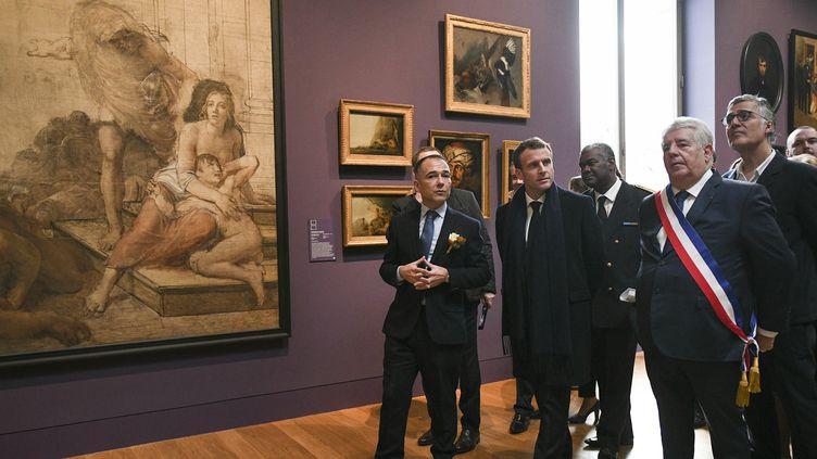 Emmanuel Macron au musée de Besançon, novembre 2018  (Sebastien Bozon / POOL / AFP)