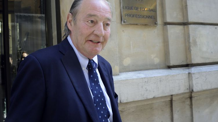 Le président du RC Lens Gervais Martel (THOMAS OLIVA / AFP)