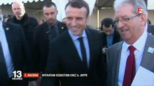 Emmanuel Macron : opération séduction chez Alain Juppé