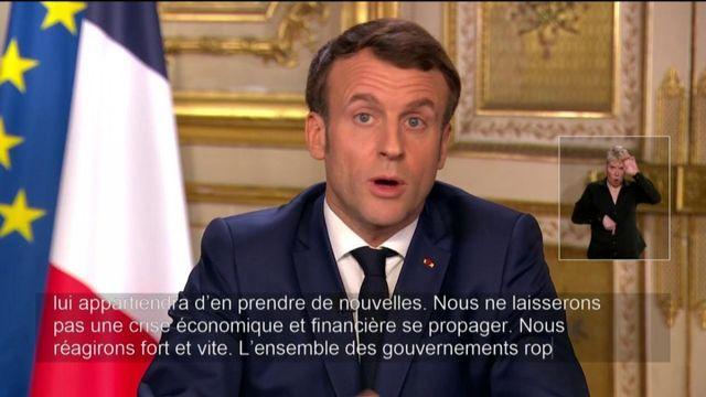 Coronavirus : Emmanuel Macron appelle à un plan de relance européen