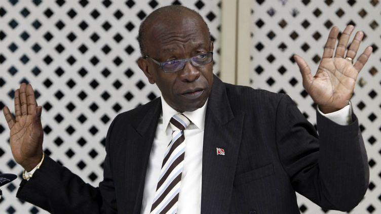 L'ancien vice-président de la Fifa, Jack Warner, le 16 avril 2013 à Port d'Espagne (Trinité-et-Tobago). (ANDREA DE SILVA / REUTERS)