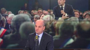 Jean-Michel Blanquer, ministre de l'Education nationale, invité le 16 janvier 2019 de franceinfo. (RADIO FRANCE / FRANCEINFO)