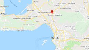 Le feu s'est déclaré à Septêmes-les-Vallons, aux portes de Marseille (Bouches-du-Rhône) jeudi 5 septembre 2019. (GOOGLE MAPS)