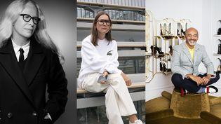 Les trois présidents de la 36e édition du Festival de hyères 2021 : Dominique Issermann,Louise Trotter et Christian Louboutin (de gauche à droite) (Karl Lagerfeld, Anders Edström et Kate Martin)
