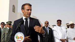 Le président Emmanuel Macron, en juillet dernier, lors du G5 Sahel. (LUDOVIC MARIN / AFP)