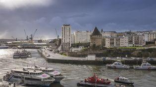 Le port de Brest (Finistère), en février 2016. (GUIZIOU FRANCK / HEMIS.FR / AFP)