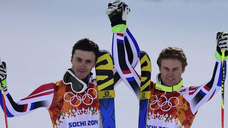 Les deux skieurs français Steve Missillier et Alexis Pinturault