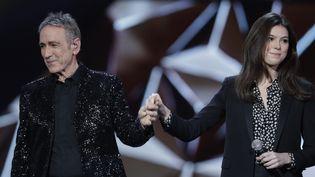 Alain Chamfort et sa fille Tess aux Victoires de la musique 2019  (Thomas SAMSON / AFP)