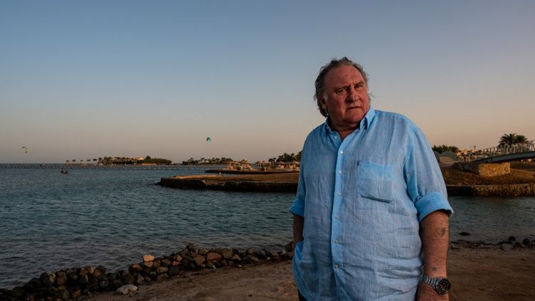 Gérard Depardieu, le 24 octobre 2020 à El Gouna (Egypte). (AMMAR ABD RABBO / EL GOUNA FILM FESTIVAL / AFP)