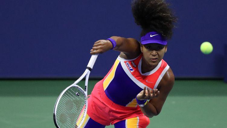 Naomi Osaka durant son 8es de finale de l'US Open face à Anett Kontaveit (MATTHEW STOCKMAN / GETTY IMAGES NORTH AMERICA)