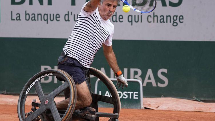 Stephane Houdet, lors de l'édition 2021 de Roland-Garros, le 5 juin. (MICHEL EULER / AP / SIPA)