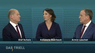 Allemagne : les candidats à la chancellerie s'affrontent à la télévision (FRANCE 2)