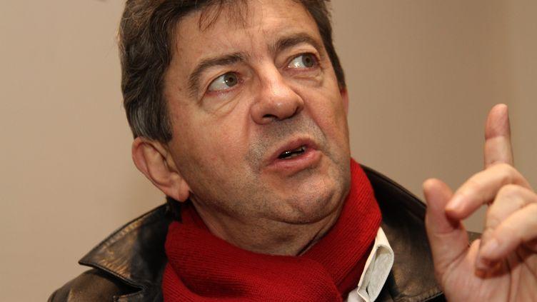 Jean-Luc Mélenchon, à Forbach (Moselle), le 20 novembre 2012. (MAXPPP)