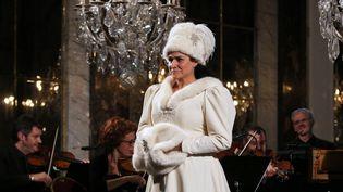 Cecilia Bartoli en concert privé à la Galerie des Glaces de Versailles le 6 octobre dernier.  (Xavier Paris/Decca Classics)