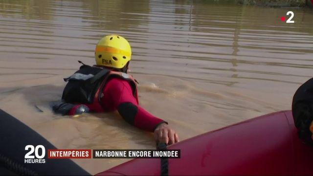 Intempéries dans l'Aude : Narbonne encore inondée