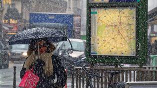 Une partie des transports en commun perturbés par la neige en Île-de-France. (MAXPPP)