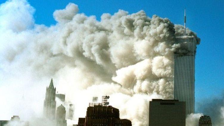 Une des deux tours jumelles du World Trade Center à New York avant son effondrement (David Surowiecki - Getty Images - AFP)
