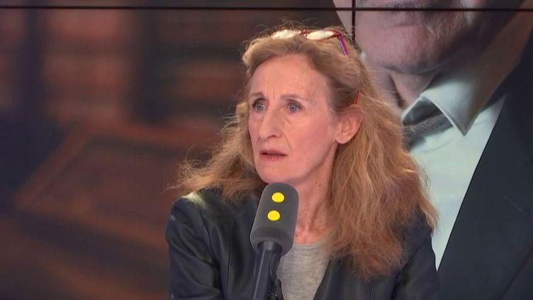 Nicole Belloubet,ministre de la Justice, invitée de franceinfo le 20 février. (FRANCEINFO / RADIOFRANCE)