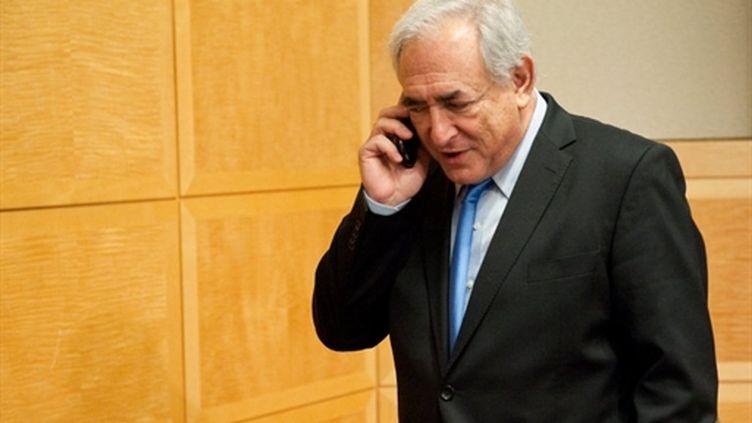 Dominique Strauss-Kahn au FMI à Washington le 16 avril 2011 (AFP - Nicholas KAMM)