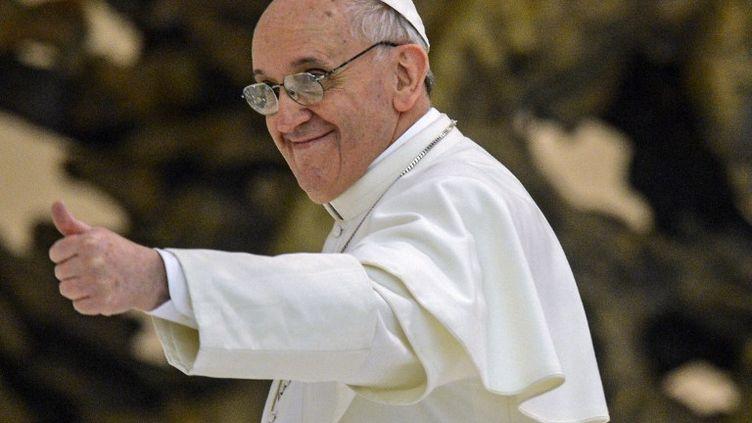 Le pape François rencontre des journalistes au Vatican, le 16 mars 2013. (VLADIMIR ASTAPKOVICH / RIA NOVOSTI)