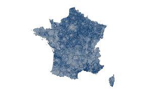 La France du vote Rassemblement national. (FRANCEINFO)