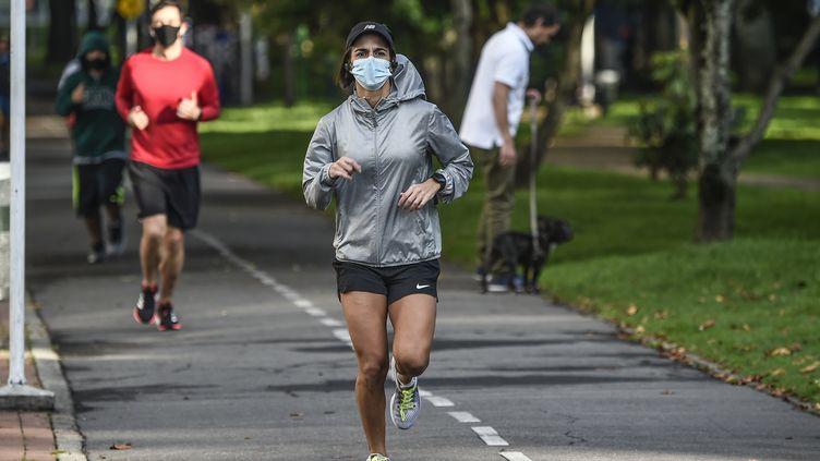 Le jogging pendant la crise de la Covid-19. (JUAN BARRETO / AFP)