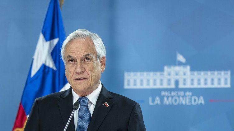 Sebastien Pinéra, président chilien s'adresse à la nation, le 21 octobre 2019 à Santiago. (HO / CHILEAN PRESIDENCY)