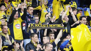 Des supporters du FC Sochaux-Montbéliard, le 17 mai 2014. (SEBASTIEN BOZON / AFP)