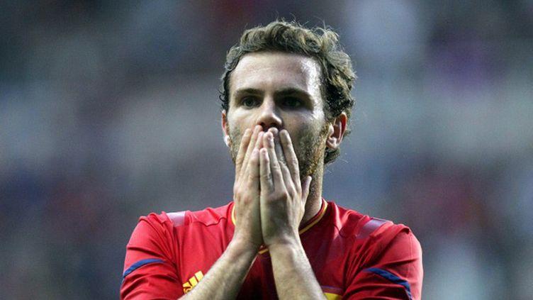 Juan Mata déçu après l'élimination de l'Espagne (GRAHAM STUART / AFP)