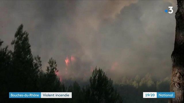 Bouches-du-Rhône : un violent incendie ravage des centaines d'hectares