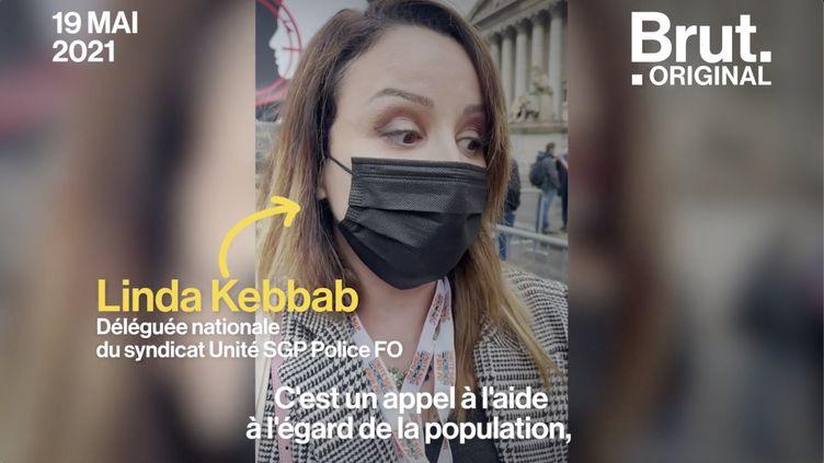 VIDEO. La syndicaliste Linda Kebbab raconte le mal-être des policiers (BRUT)