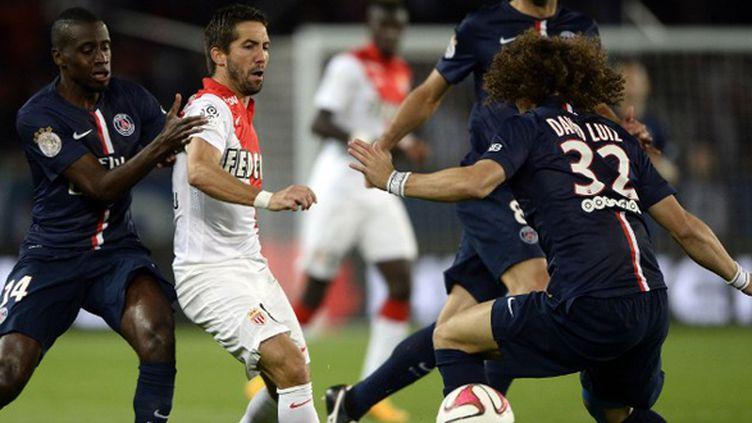 Le Monégasque Moutinho au milieu des Parisiens Matuidi et David Luiz