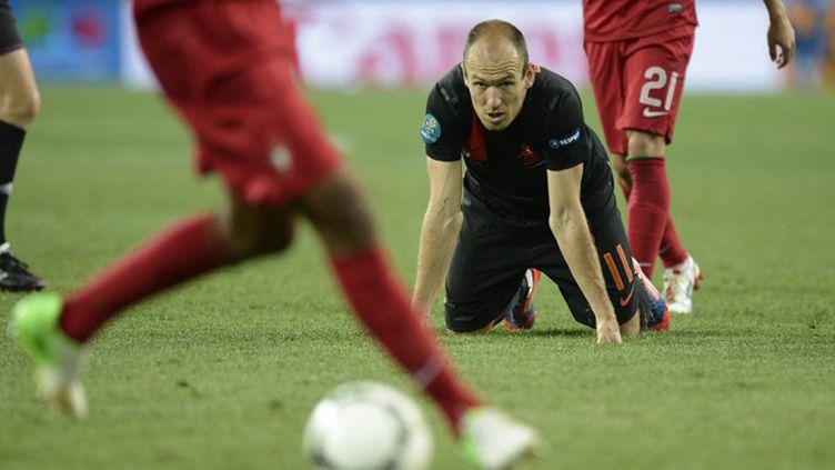 Robben au sol (FILIPPO MONTEFORTE / AFP)