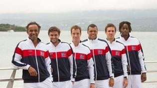 L'équipe de France de tennis avant le début de la Coupe Davis en Guadeloupe, le 3 mars 2016. (MAXPPP)