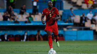 Romelu Lukaku contre le Portugal, le 27 juin 2021. (JOAQUIN ARCOS / AFP)